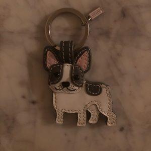 Coach French bulldog keychain keyring